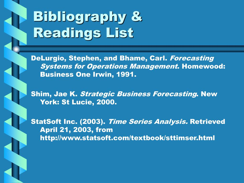 Bibliography &