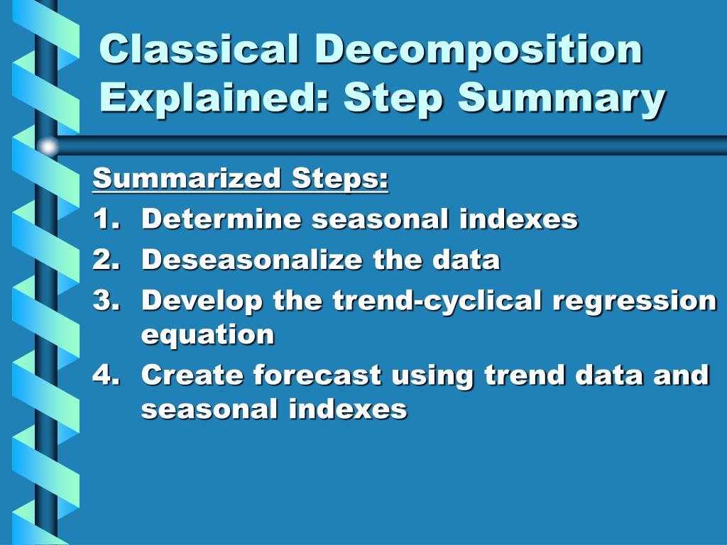 Classical Decomposition Explained: Step Summary