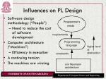 influences on pl design