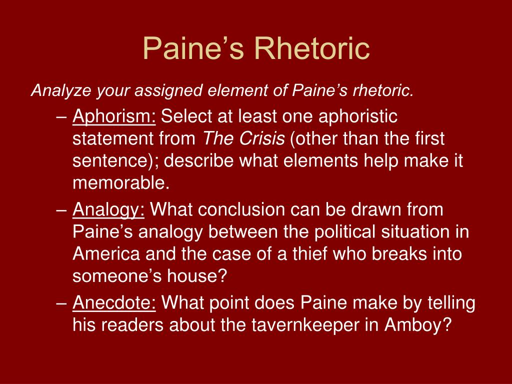 Paine's Rhetoric