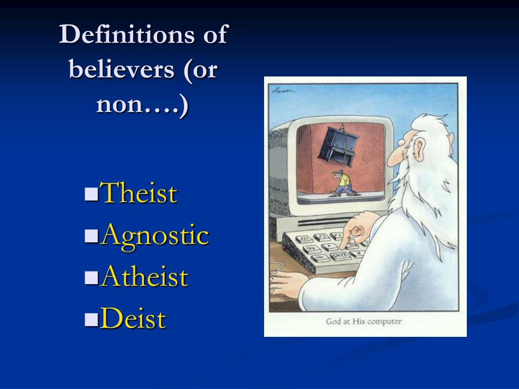 Definitions of believers (or non….)