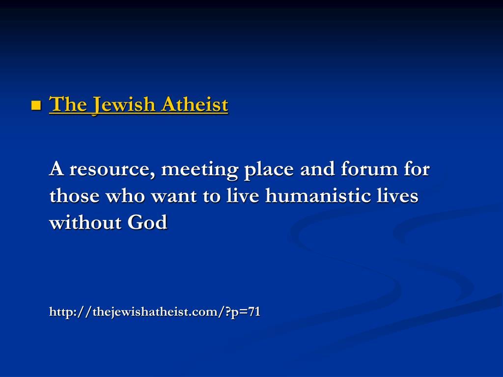 The Jewish Atheist