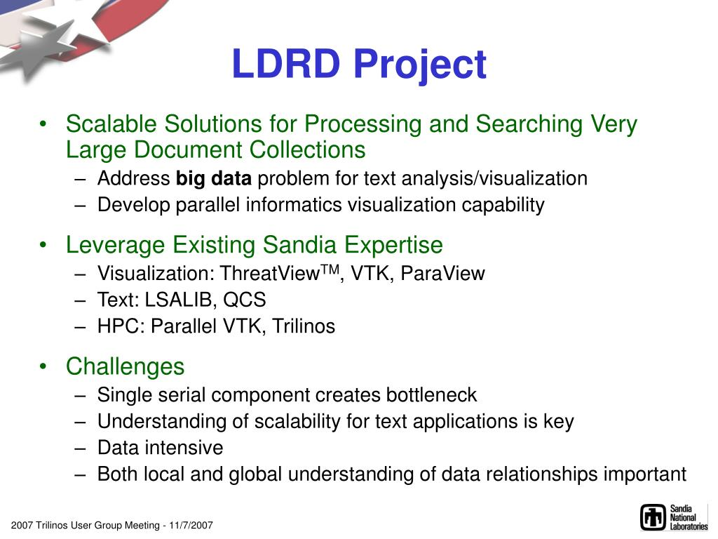 LDRD Project