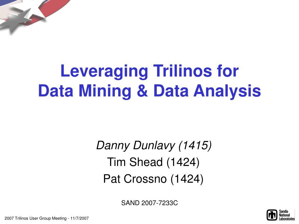 Leveraging Trilinos for