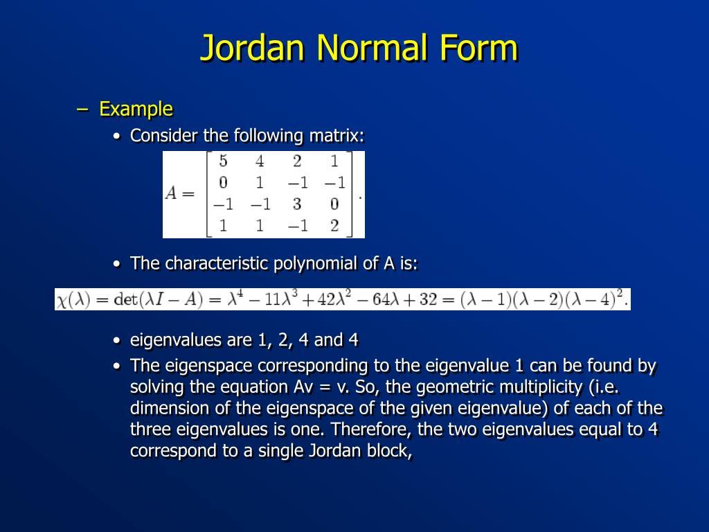Jordan Normal Form