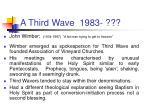 a third wave 1983