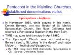 pentecost in the mainline churches established denominations visited