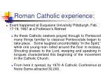 roman catholic experience32