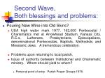 second wave both blessings and problems