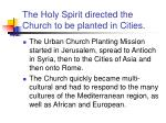 the holy spirit directed the church to be planted in cities
