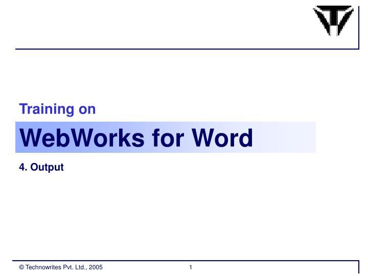 webworks for word n.