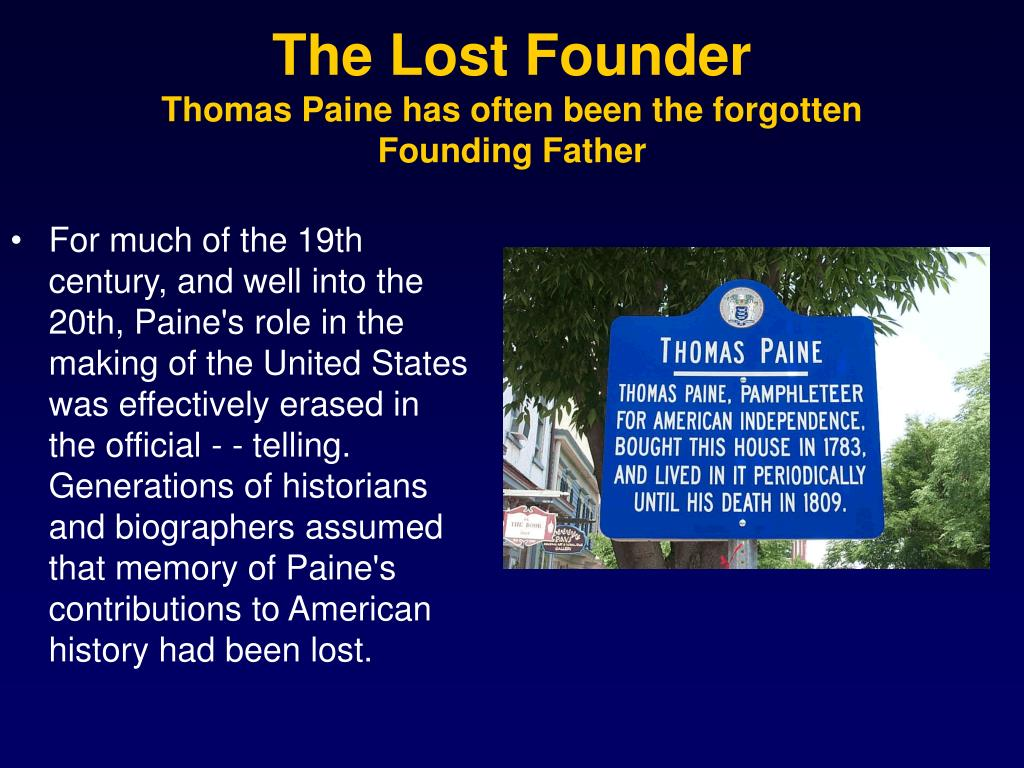 The Lost Founder