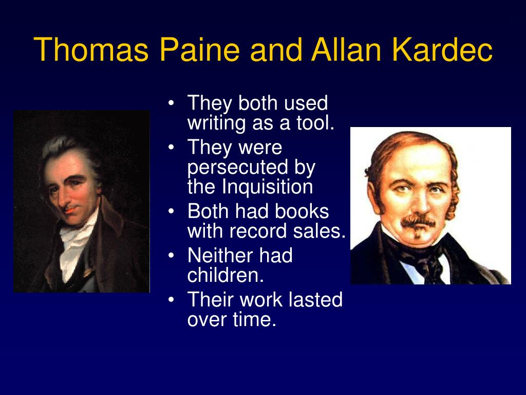 Thomas Paine and Allan Kardec