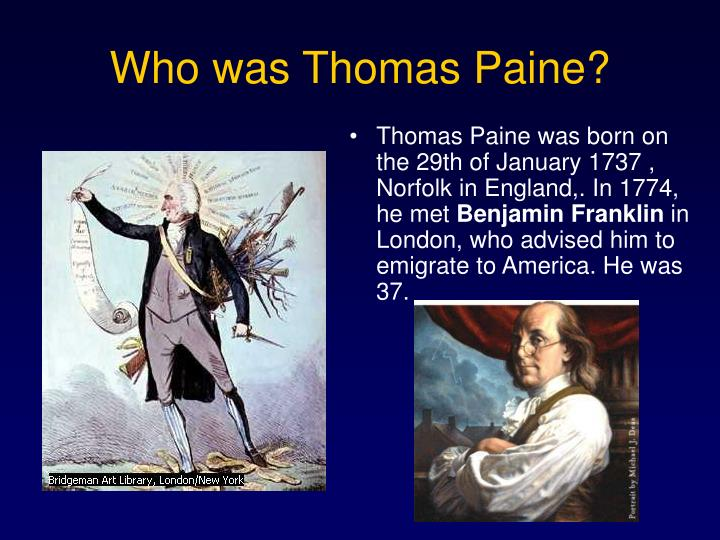 Who was thomas paine