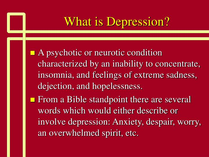 What is depression2
