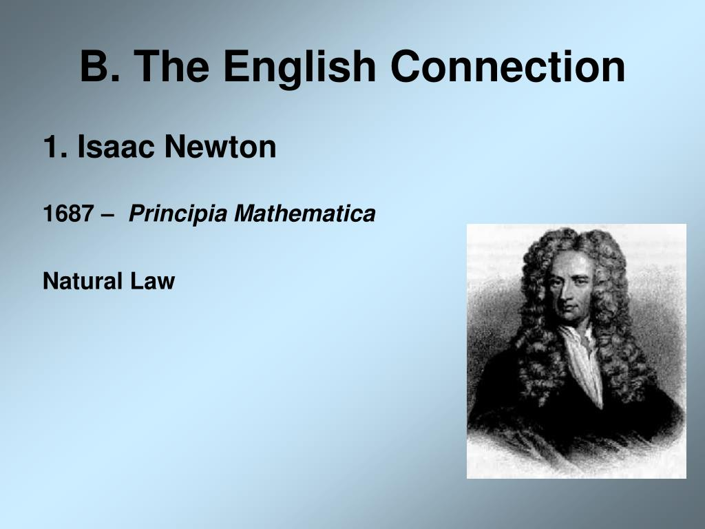 B. The English Connection