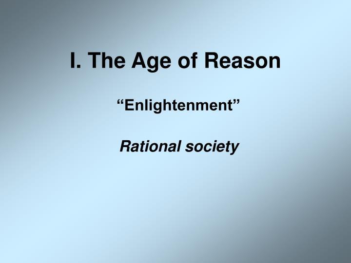 I the age of reason