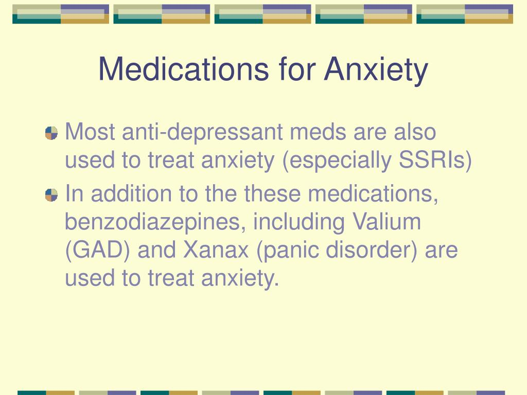 Medications for Anxiety
