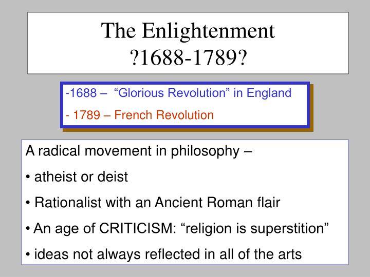 The enlightenment 1688 1789