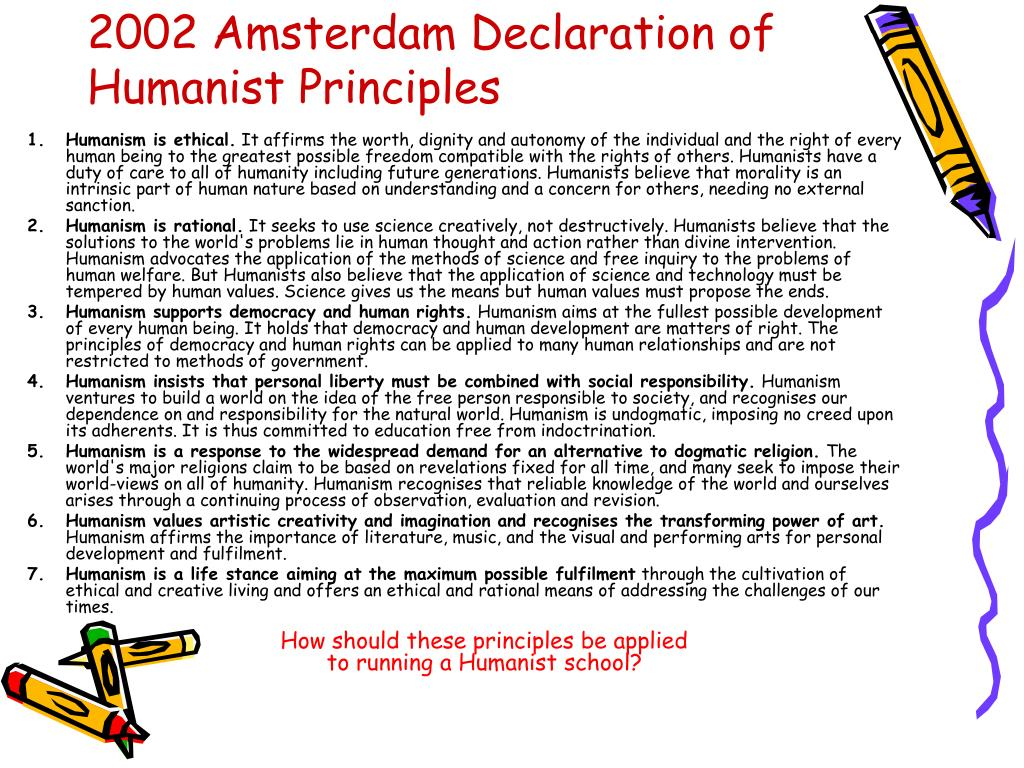 2002 Amsterdam Declaration of Humanist Principles