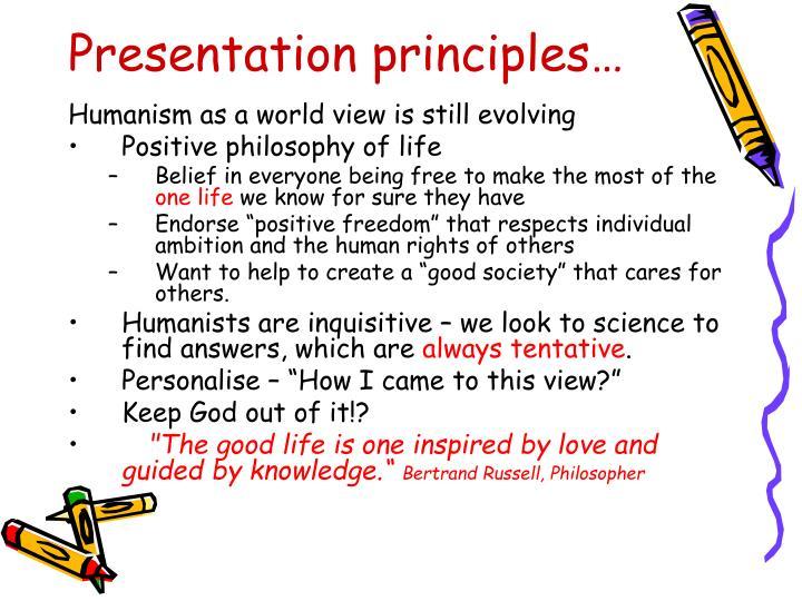 Presentation principles