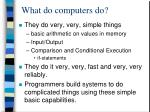 what do computers do