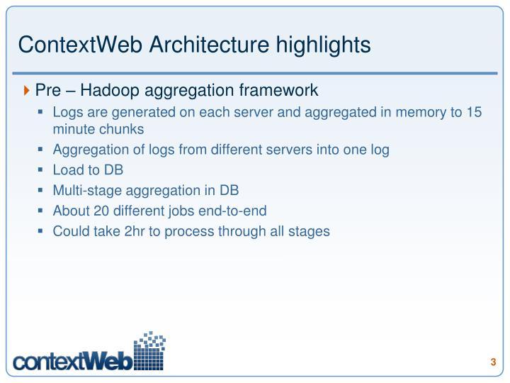 Contextweb architecture highlights