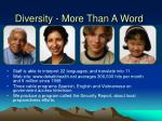 diversity more than a word