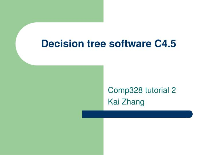 Decision tree software c4 5