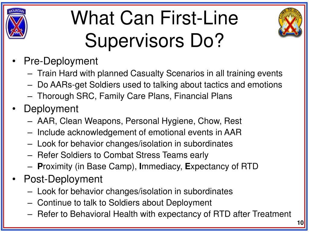 What Can First-Line Supervisors Do?