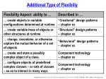 additional type of flexibiliy