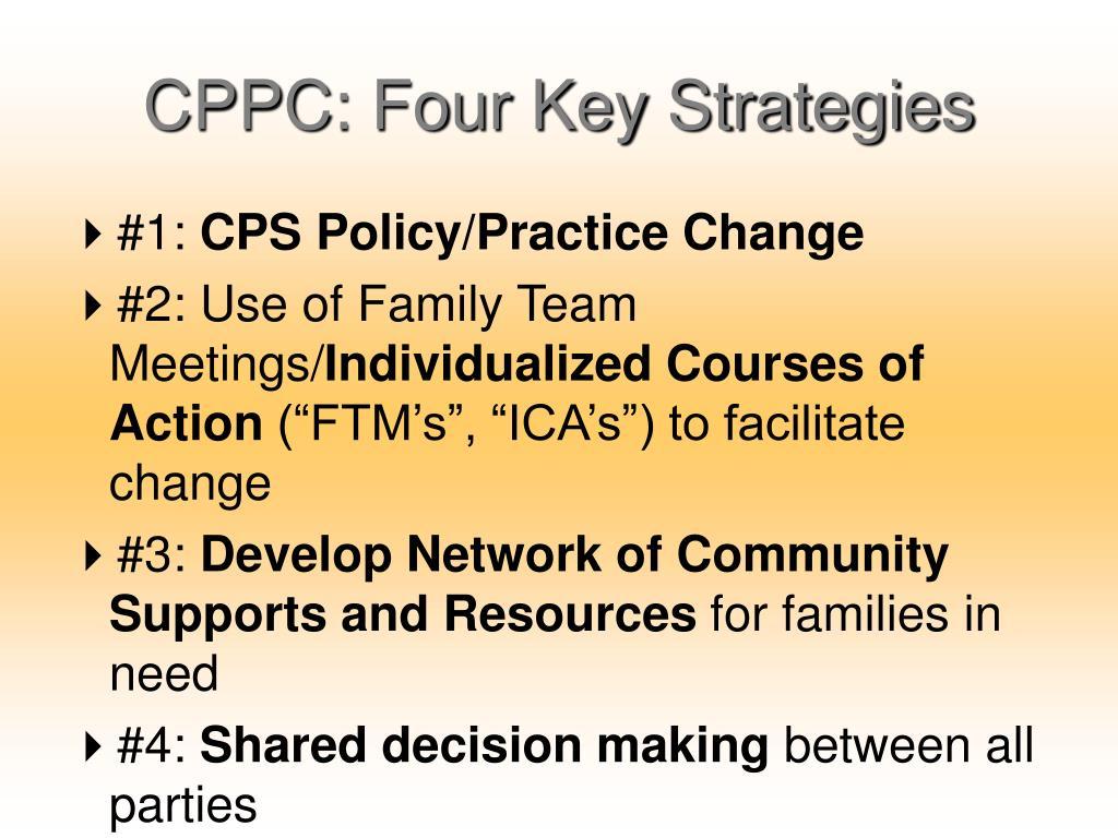 CPPC: Four Key Strategies