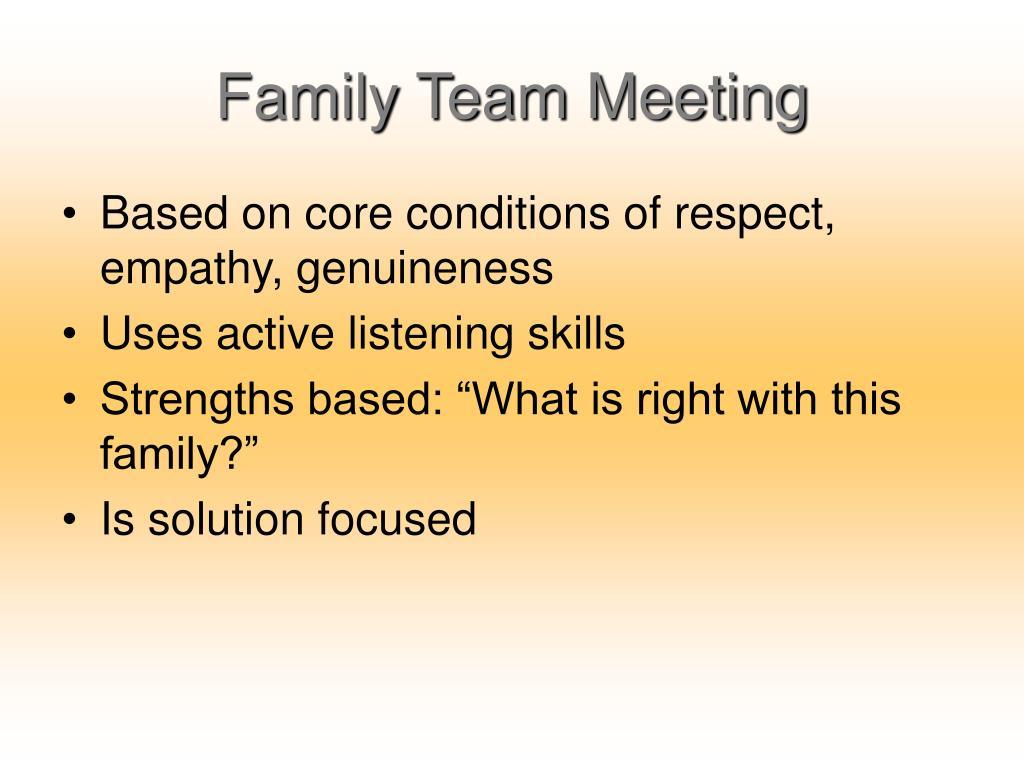 Family Team Meeting