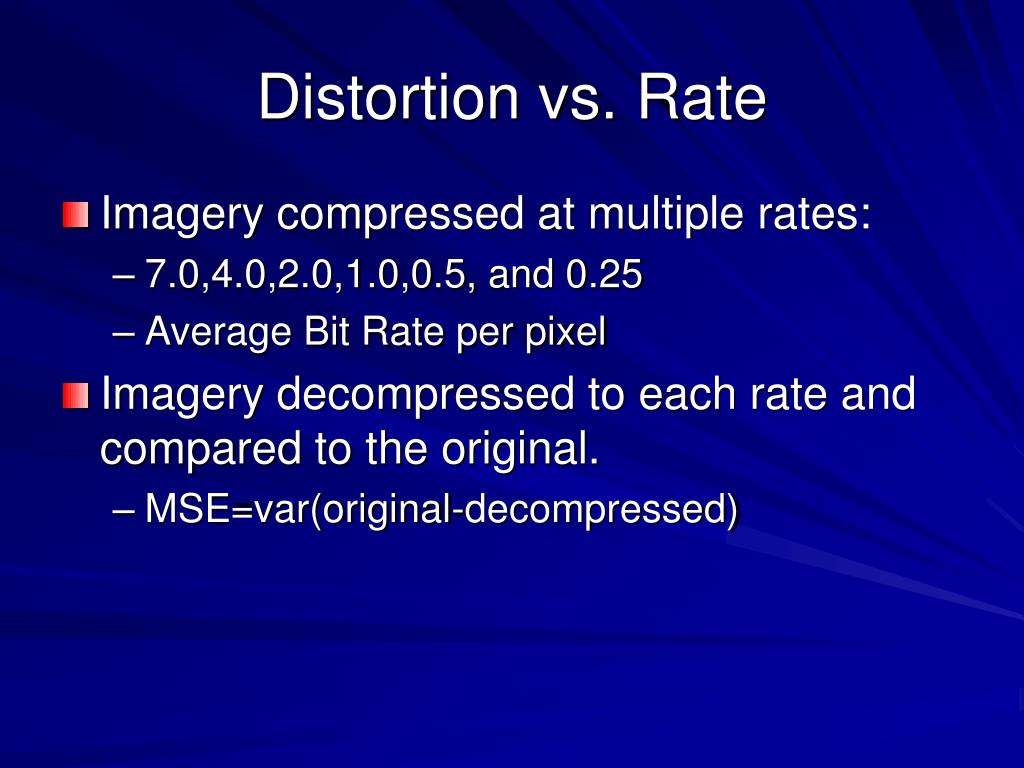 Distortion vs. Rate