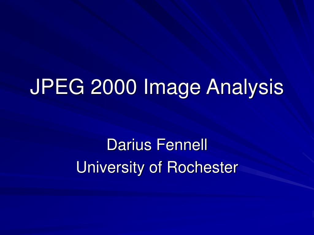 JPEG 2000 Image Analysis