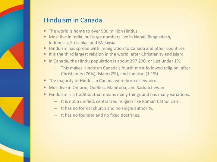 Hinduism in canada