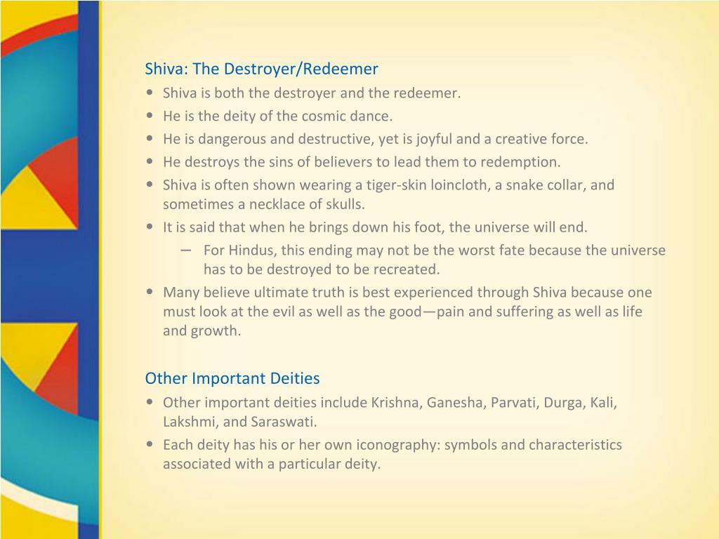 Shiva: The Destroyer/Redeemer