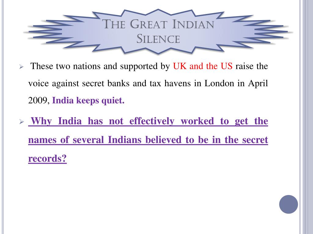 The Great Indian Silence