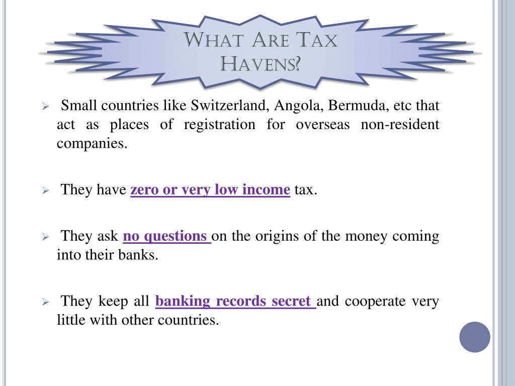 What Are Tax Havens?