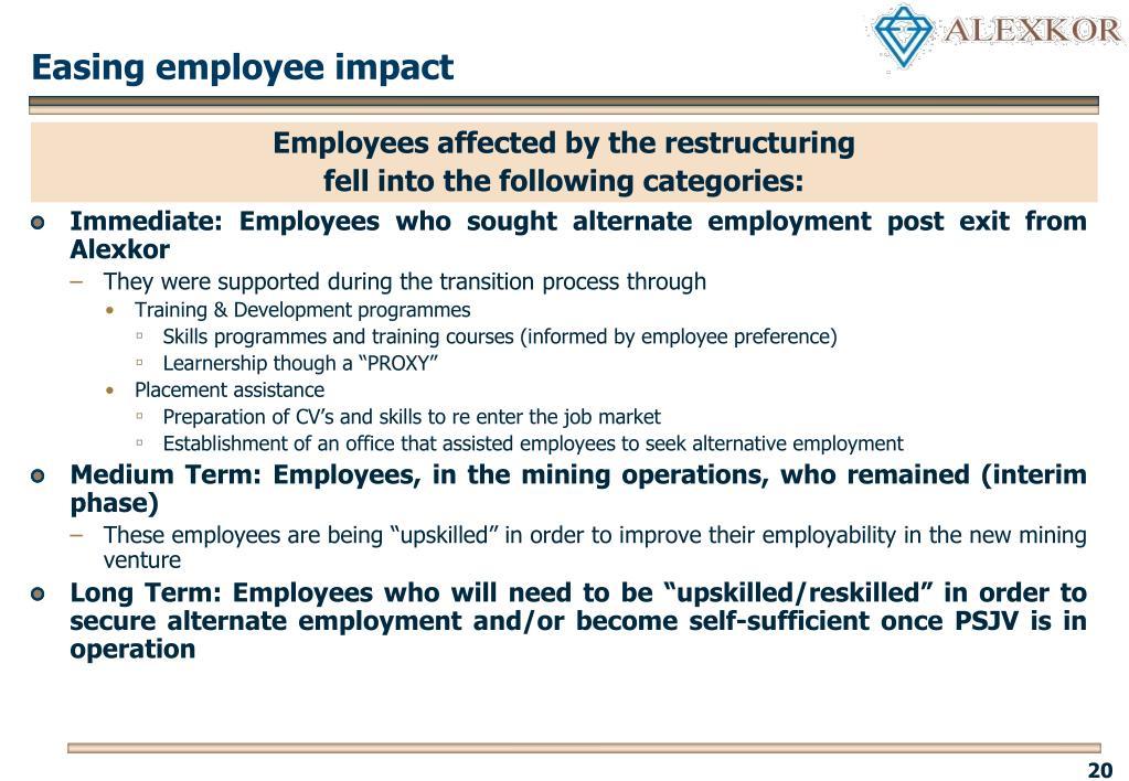 Easing employee impact