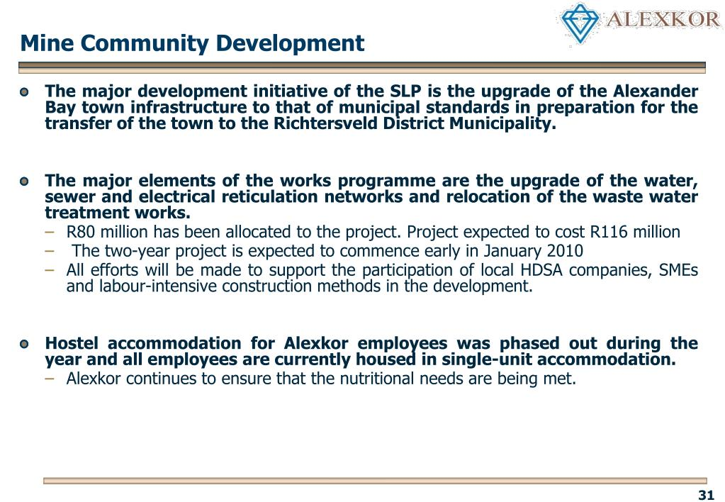 Mine Community Development