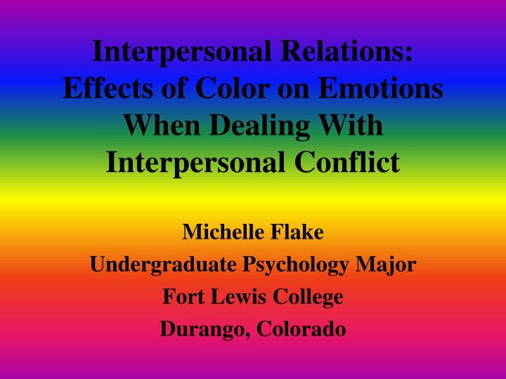 the effect of organizational conflict on emotions psychology essay The individual characteristics identified by the participants as capable of influencing well-being in the workplace include being positive, communication, management of difficulties and conflicts, socio-emotional skills, and values.