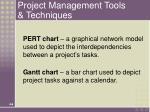 project management tools techniques