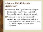 missouri state university admissions