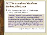 msu international graduate student admission