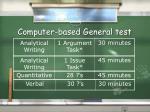 computer based general test