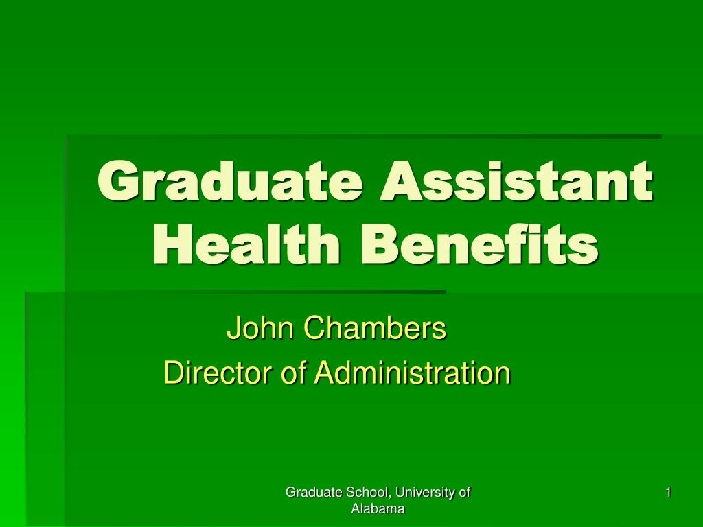 graduate assistant health benefits l.