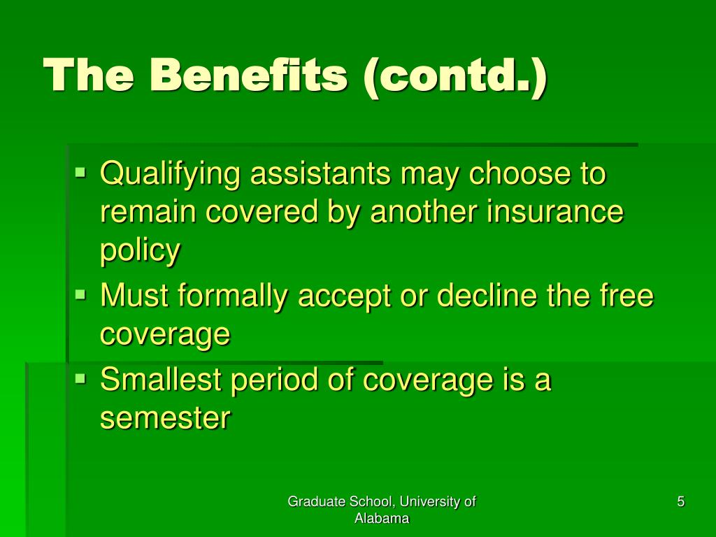 The Benefits (contd.)