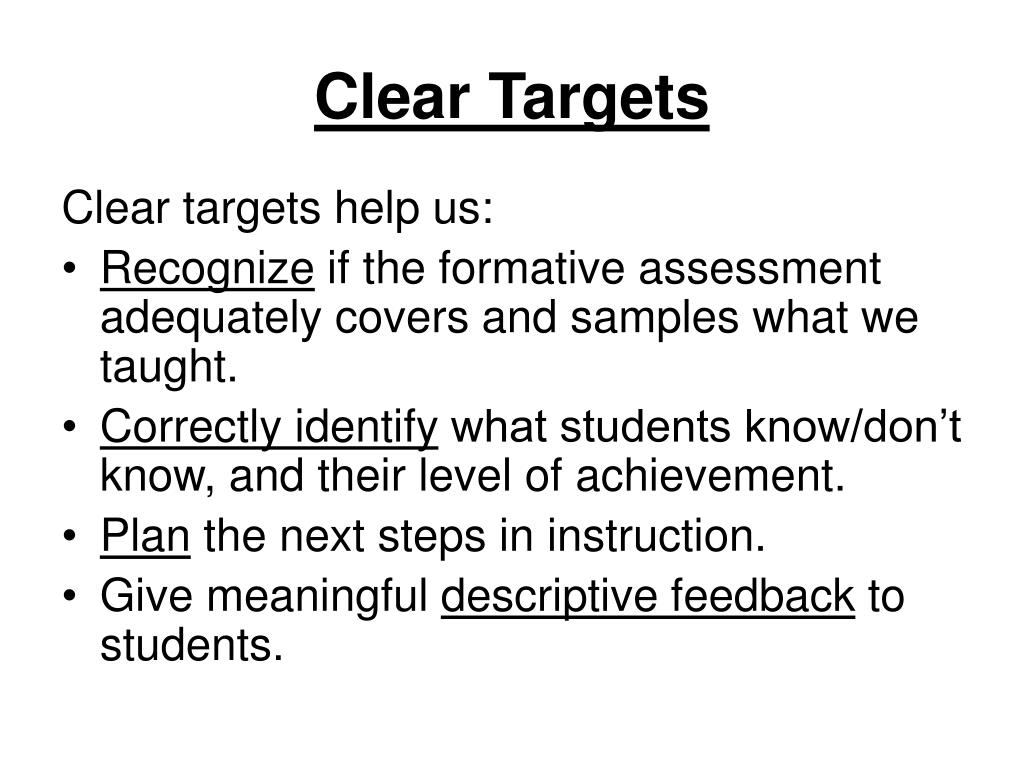Clear Targets