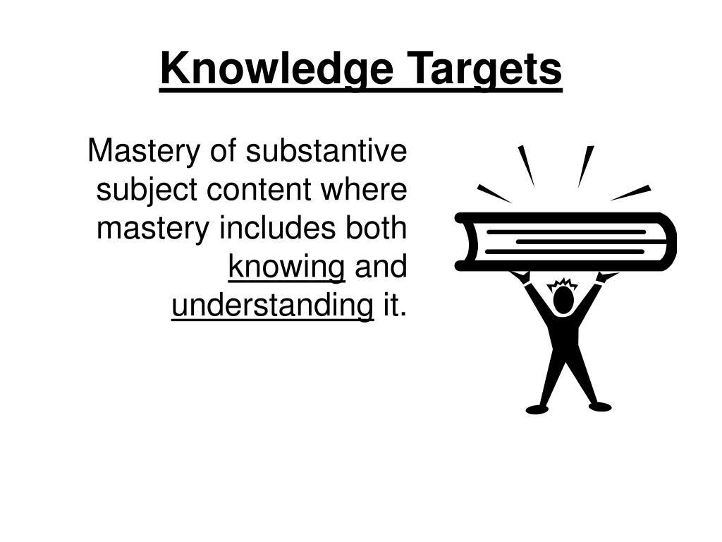 Knowledge Targets